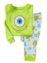 Custom Cartoon Kids Pajamas Long Sleeve Pajamas Gilrs and boys