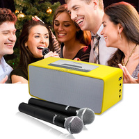 Powered 20W bluetooth speaker with wireless microphone system