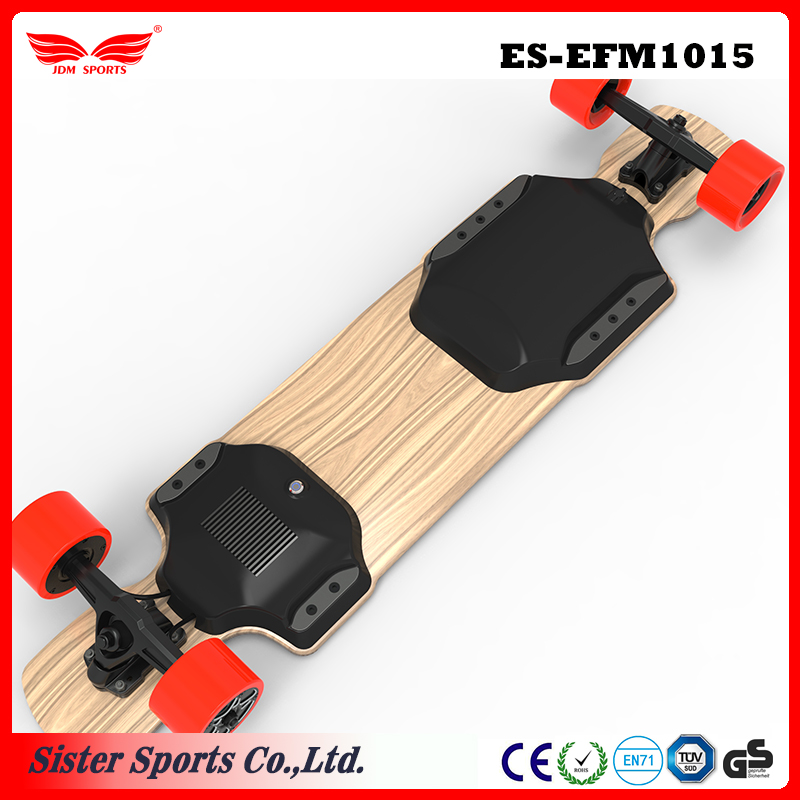 Adult model 4 wheels drive maple longboard electric skateboard