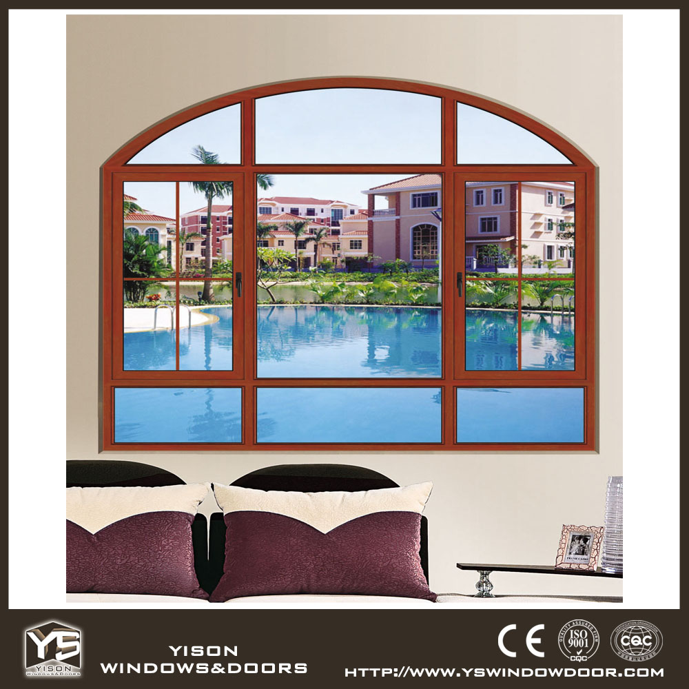 House arch window design aluminium window swing window - Houses with arched windows ...