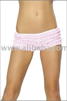 Polka Dot Lace Ruffle Short