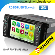 "Erisin ES6061M HD 6.2"" Car Audio System GPS 3G Radio for Compass Caliber Sebring 300C Grand Cherokee Wrangl Journey"