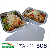Large Plain Aluminium/Tin Foil Lunch Box