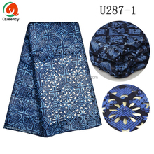 U287 Queency 2017 New Wholesale Online Ankara Prints African Special Asoebi Style Laser Cut Design with Beads Wax Fabric
