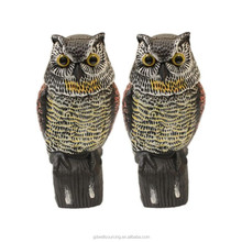 Owl Blowing Molding Plastic Owl Lawn Ornaments