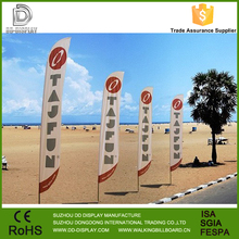 Cheap advertising beach flag banner with your own design printing