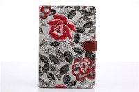 High Quality Flower Denim Style Flip Leather Wallet Cover Case For Apple iPad Mini 2 Retina