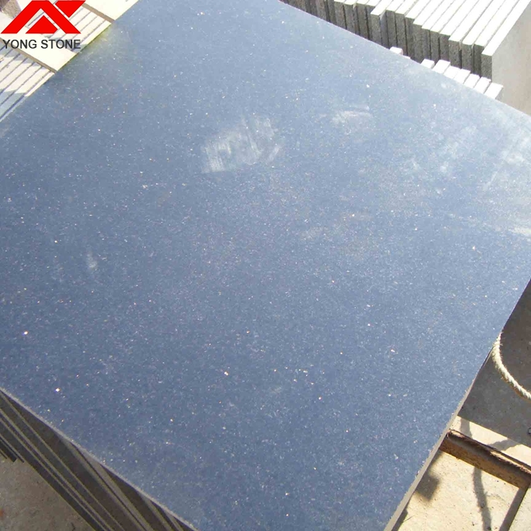 Black star galaxy granite floor tiles