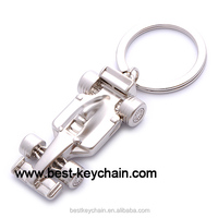 zinc alloy promotion custom 3d F1 car metal key chain (BK52548)