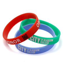 Hot Sale High Quality Factory Price Custom Qr Code Silicone Bracelet Wholesale From China