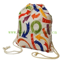 Trendy drawstring canvas organic eco cotton shoe bag