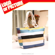 China factory rainbow colorful design women shopping and travel bag for beach and outdoor sport bag