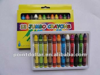 Jumbo Crayon Set- Set of 12 crayons, Beautiful colors & Elegant design.