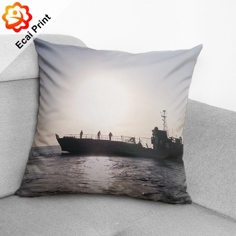 dropship soft silky heat transfer printed Cushion cover