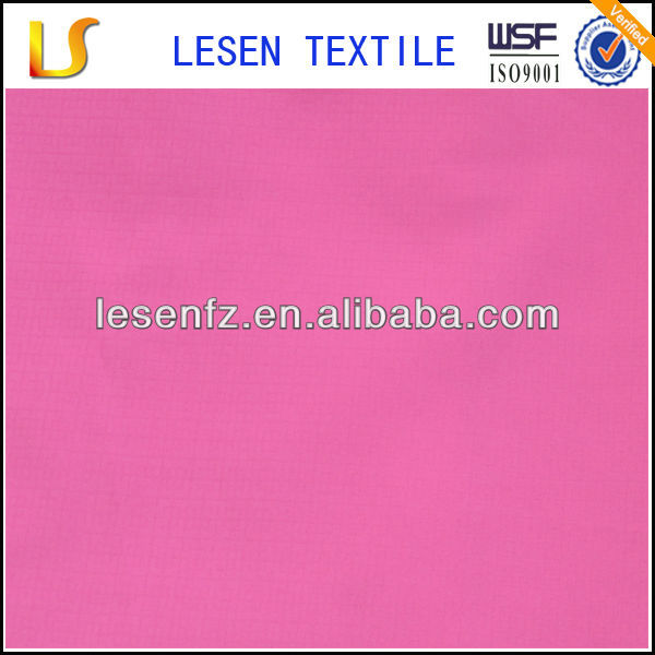 300T polyester chinese rip-stop dyed jarquard pongee fabric