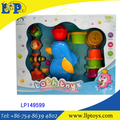 Cute Dolphin baby bath play set toys bath toys for kids
