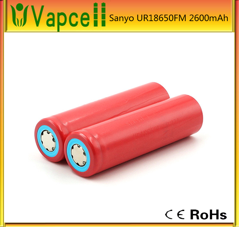 lifepo4 batteries Authentic rechargeable battery Sanyo UR 18650 FM 2600mAh UR18650 2600mAh UR18650FM 2600mAh sanyo 18650