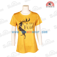 China Cheap Custom Dri Fit Sublimation Sport T-Shirt