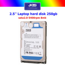 Cheap used 2.5 Inch hard drives 5400rpm 8MB refurbished hdd 2.0 sata 250gb for laptop
