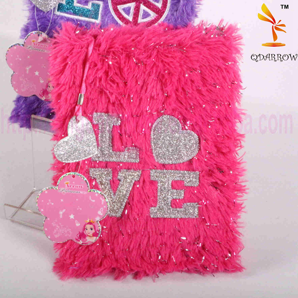 Hot Items 2016 Fashion Notebook With Faux Fur Cover