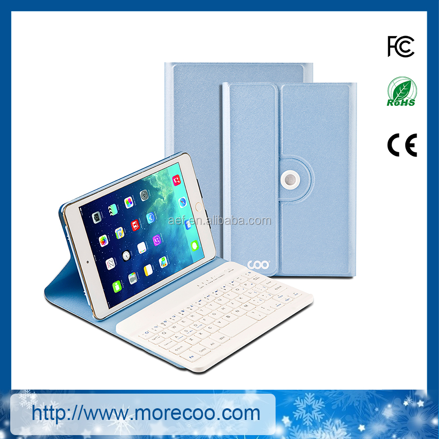 customized PU leather bluetooth keyboard case for ipad air in stock