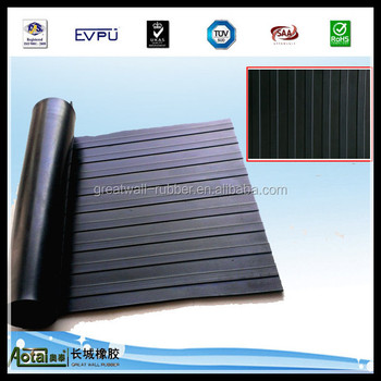 GREAT WALL anti-slip rubber flooring mat wide ribbed rubber flooring mat