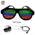 Chinese Supplier Party Favors Fashionable Sound Activated LED Sunglasses