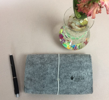 beautiful promotional felt stationary bag