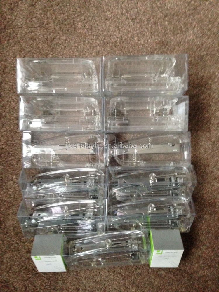 Clear Acrylic 7 x Stapler 4 x Hole Punch 2 x Paper Clips Office Stationary Set
