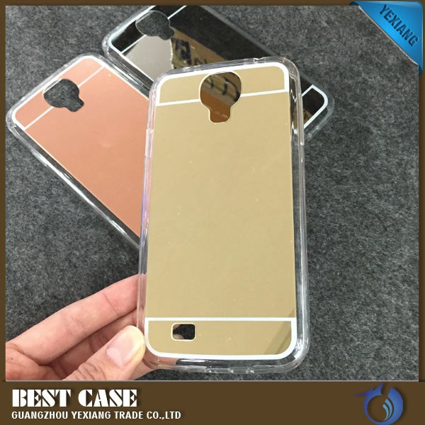 clear tpu bumper mirror case for samsung galaxy s4 soft gel cover