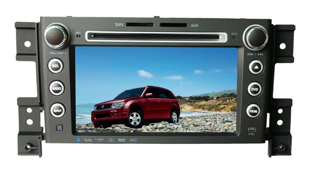 car dvd player special for Susuki Grand Vitara with digital screen, built-in bluetooth with hand free, GPS, ipod