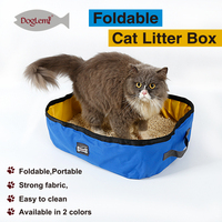 Foldable Travel Cat Litter Pan cleaning waterproof cat box