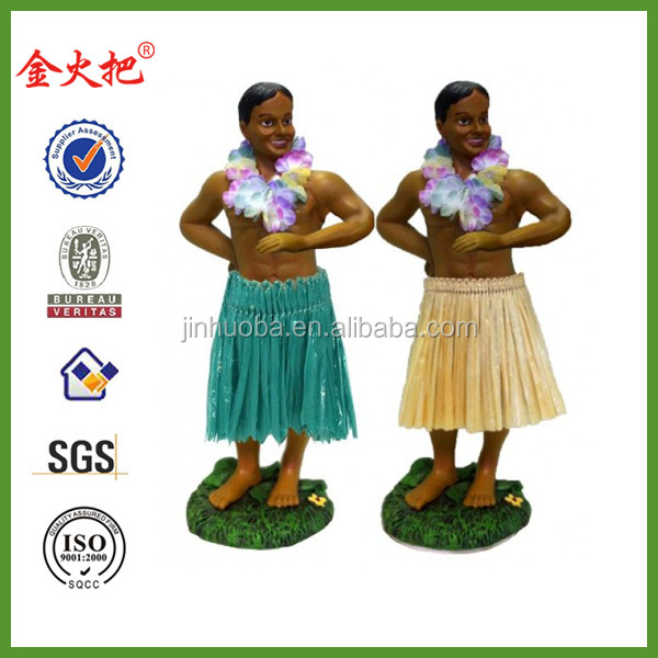The newest design resin customized Dashboard Hula girl dolls
