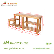Solid wood bamboo shoe rack bench factory direct price