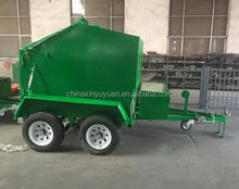 Industrial Mobile Metal Wheel skip Bin Trailer for sale