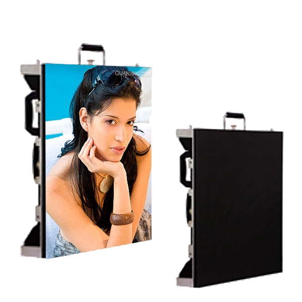 P3.91 magnetic installation rental screen Indoor led video curtain super slim advertising transparent led digital display