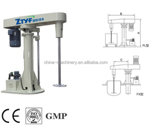 small type lab moveable equipment high speed disperser in mixing equipment ink production machine