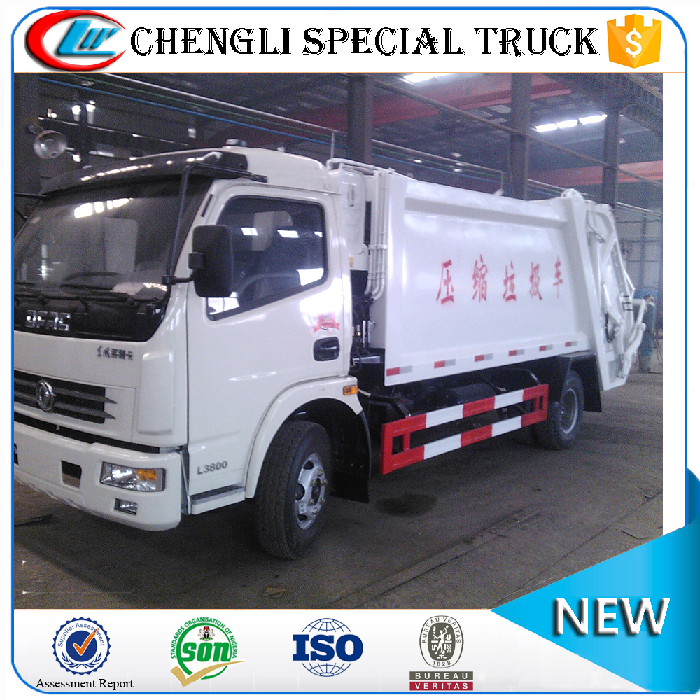 DONGFENG 4*2 120hp 7CBM Compact Garbage Trucks Rubbish Collector Trucks