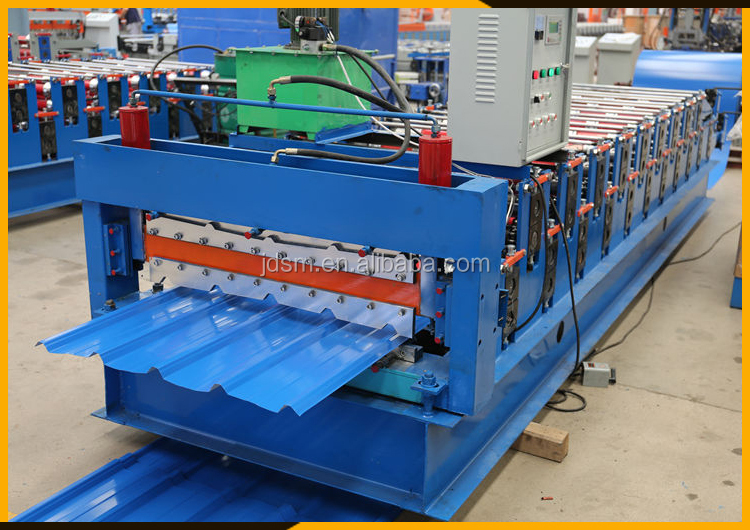 Eficiency steel metal decking tile sheet roll forming