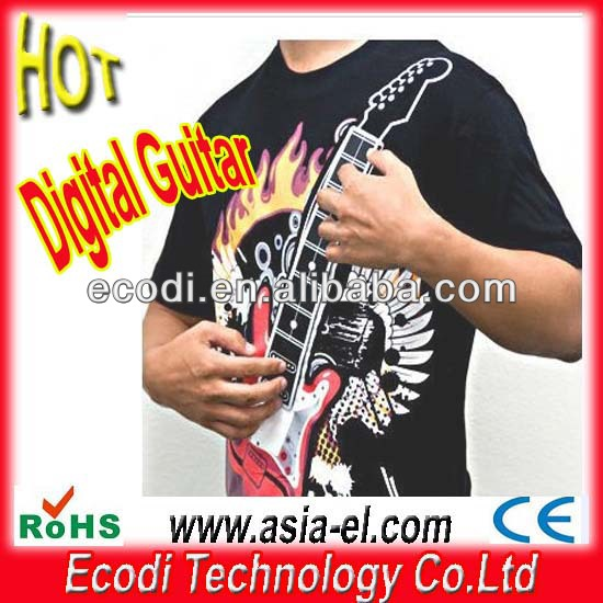 Hot!! New!!wholesale guitar t-shirt Playable Electronic Rock Guitar EL T-Shirts