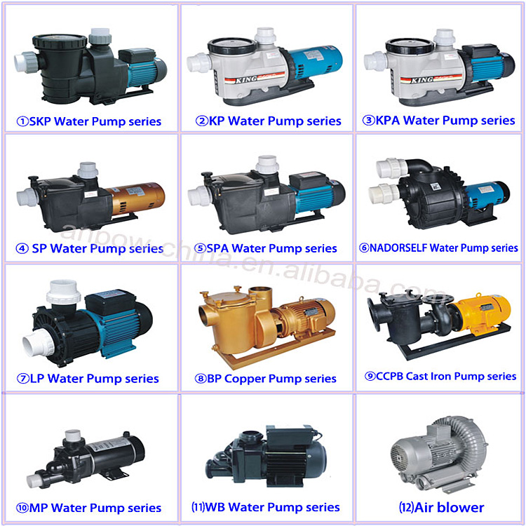 20years factory Anpow 1.0hp 1.5hp 2hp 3hp 5hp 7.5hp 15hp electric single/three phase motor water pump list made in china