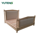 Bedroom furniture simple wooden double bed