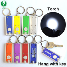 Rectangle Shape Plastic Led Flashlight Keychain Torch, Keyring Torch, Led Lighted Keychain