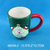 Handmade personalized santa claus design ceramic cup with saucers