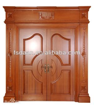 India style double open wooden front door designs
