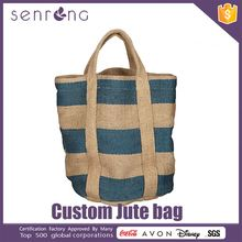 Jute And Cotton Shopping Bag Jute Eco Cosmetic Bag