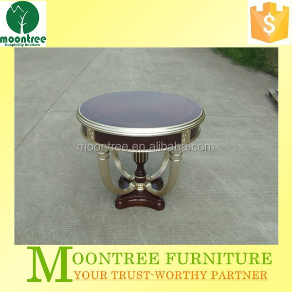 Moontree MCT-1132 china supplier round antique hand carved wooden coffee table