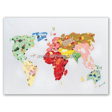 2016 ROYI Art the world map Canvas Paintings Home Wall Decoration 56230