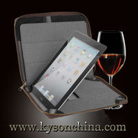 Brown real leather case for ipad 2/3/4,3d case for ipad 3