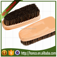 Higher quality wooden horse hair shoe brush